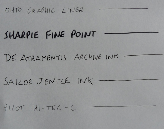 De Atramentis Archive Ink dry