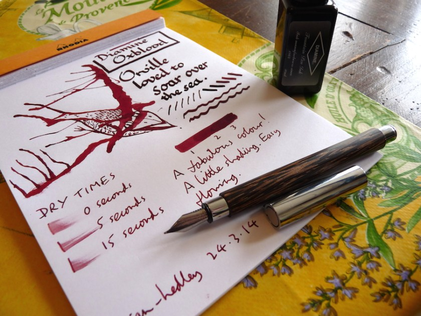 Diamine Oxblood ink review