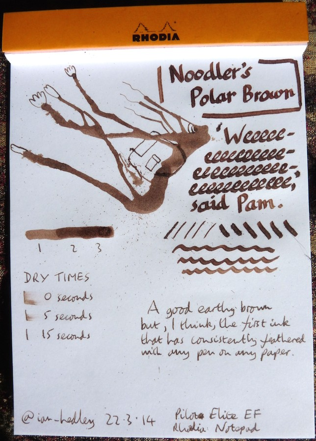 Noodler's Polar Brown Inkling