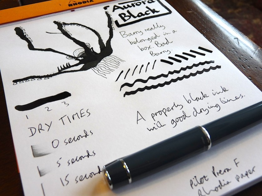 Aurora Black ink review