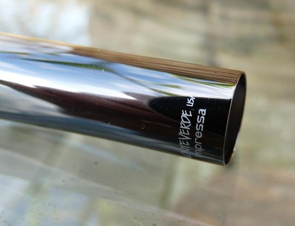 Monteverde Impressa fountain pen branding on cap