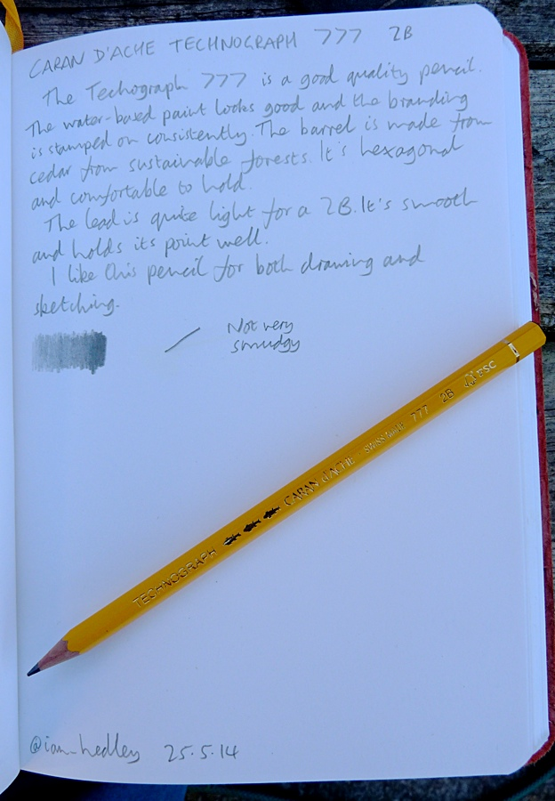 Caran d'Ache Technograph 777 pencil handwritten review