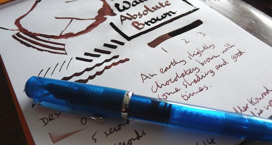 Waterman Absolute Brown ink review