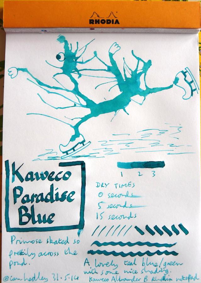 Kaweco Paradise Blue ink Inkling