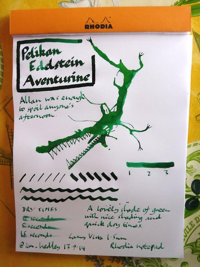 Pelikan Edlestein Aventurine Inkling doodle