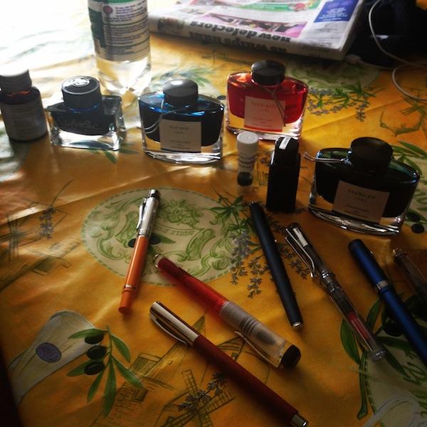 Picking inks