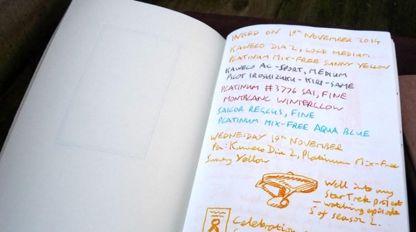 Midori Travelers Notebook Refill 013 lightweight inside