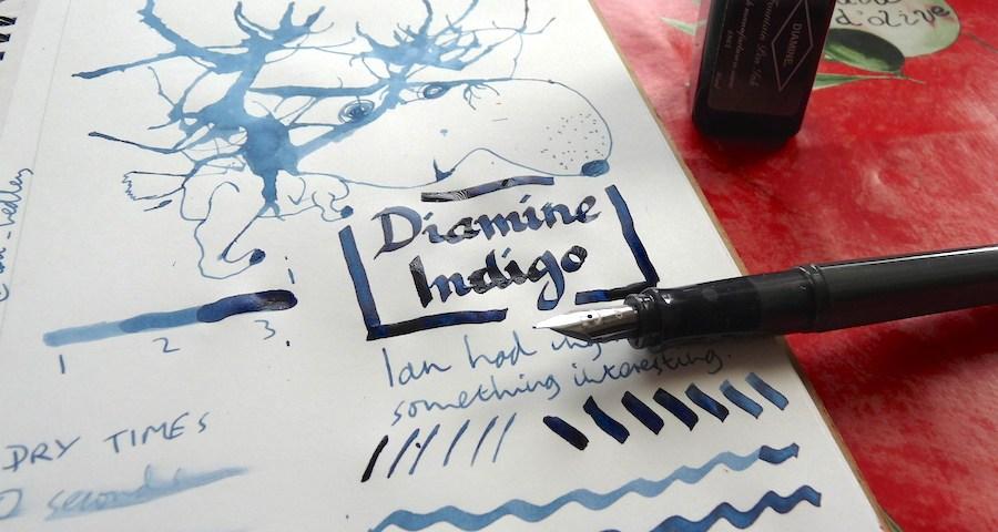 Diamine Indigo ink review
