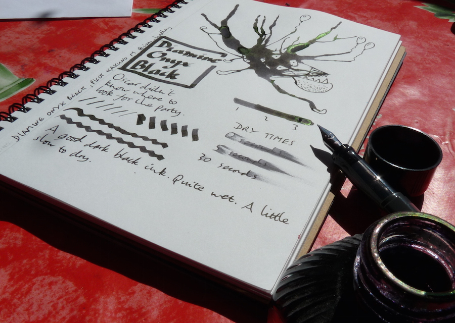 Diamine Onyx Black ink review