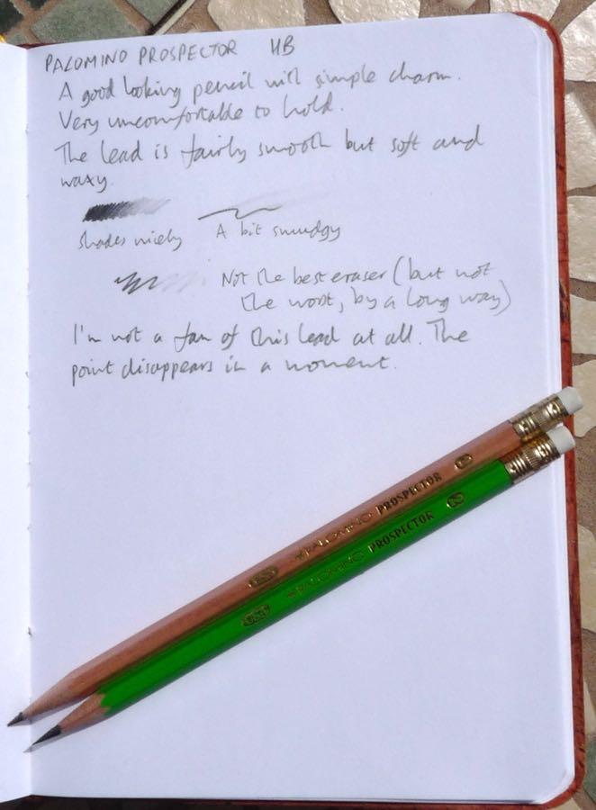 Palomino Prospector handwritten review