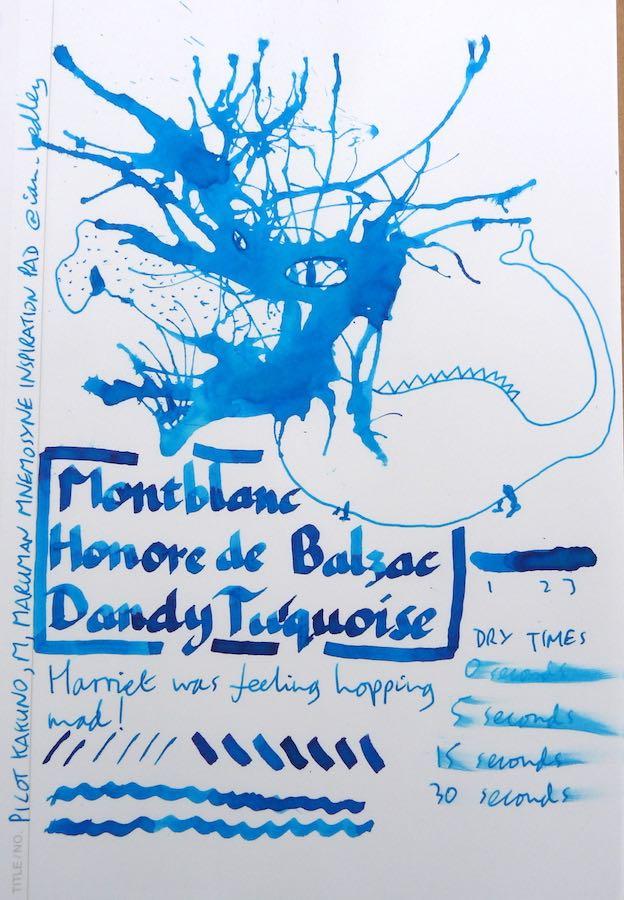 Montblanc Honore de Balzac Dandy Turquoise Inkling