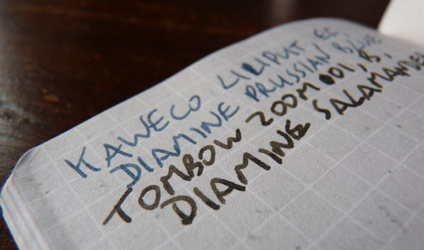 Whitelines Pocket notebook inks