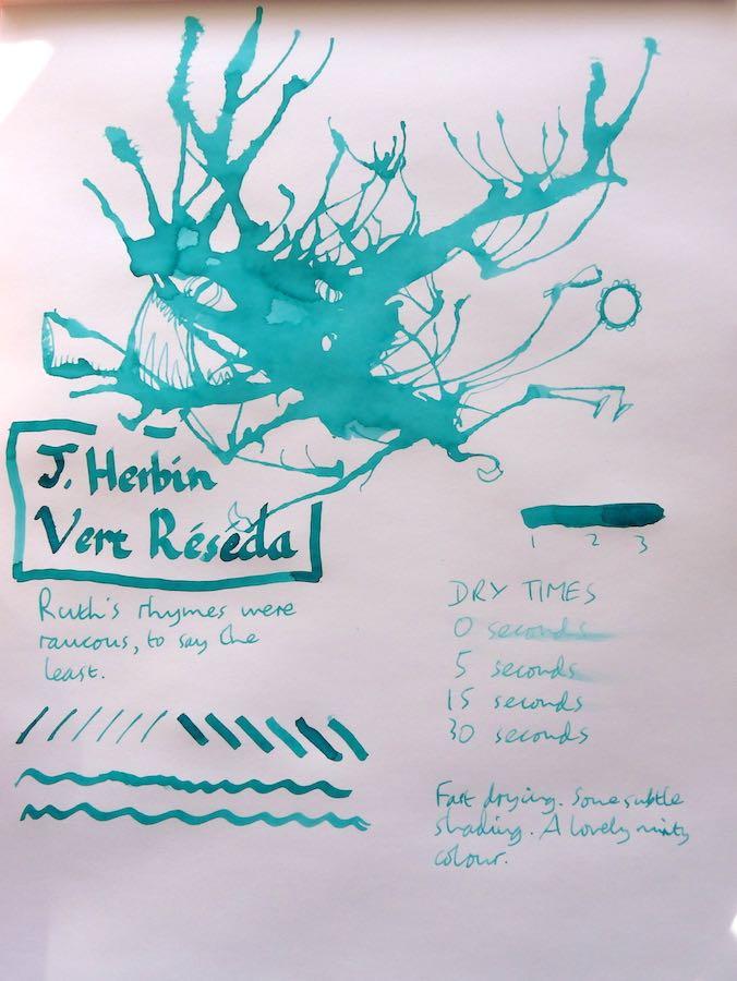 J Herbin Vert Reseda Inkling