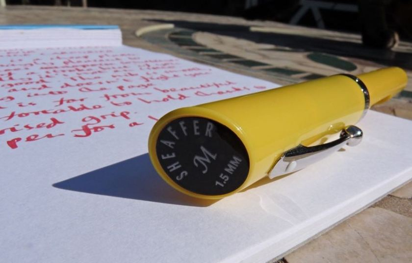 Sheaffer Viewpoint Calligraphy sticker on the end