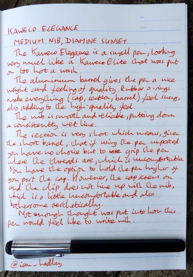 Kaweco Elegance handwritten review