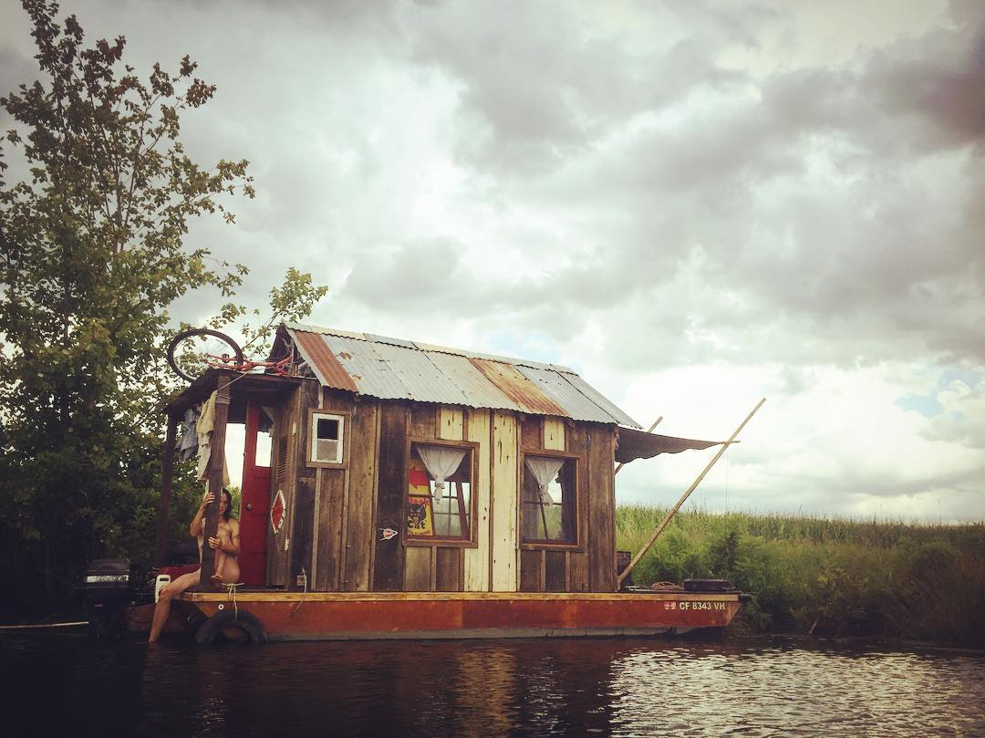 Shantyboat in the swamp