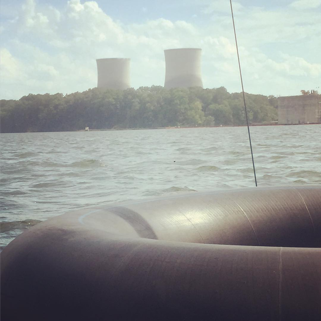 The second nuclear power plant we've visited in the last 40 miles on the river