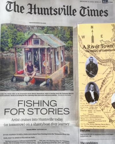 Secret History in the Huntsville Times