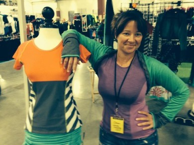 Jillian at the Moxie booth