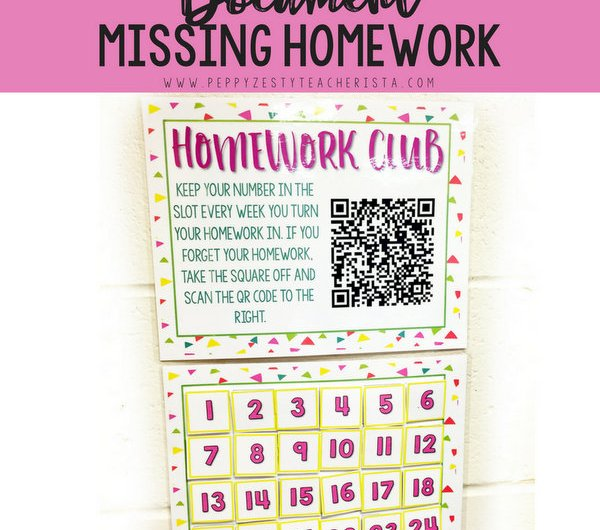 Need a classroom management idea to help document missing homework? Check out this QR Codes homework management routine that scans to keep documentation of missing homework. A great way to integrate technology in the classroom!