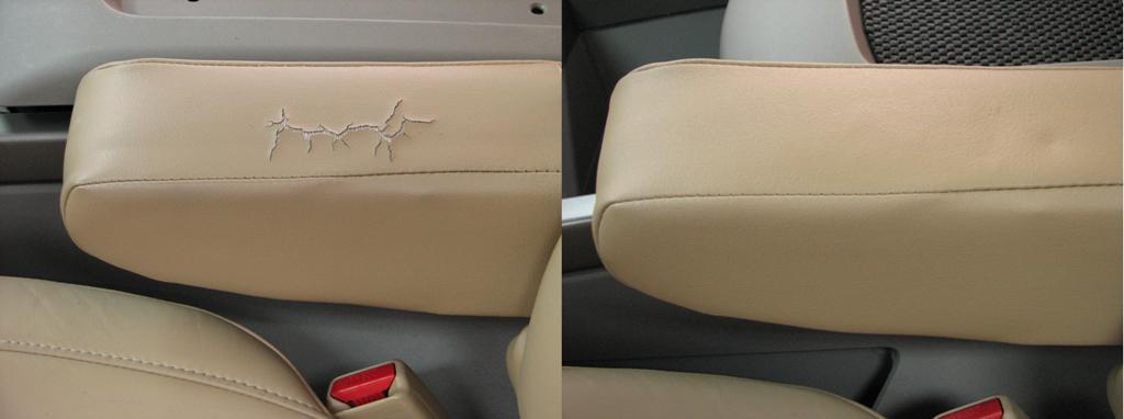 Восстановление кожи на сиденьях авто