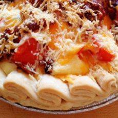 5 layer tomato pie baked