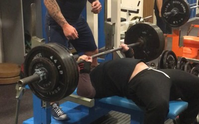 Quick after work bench session
