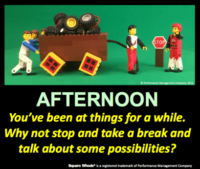 Thoughts on afternoon square wheels thinking of business process improvement