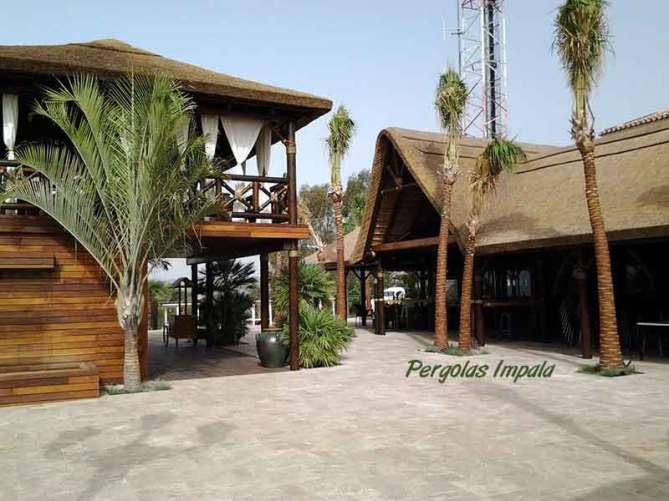 Pergolas Impala thatched complex