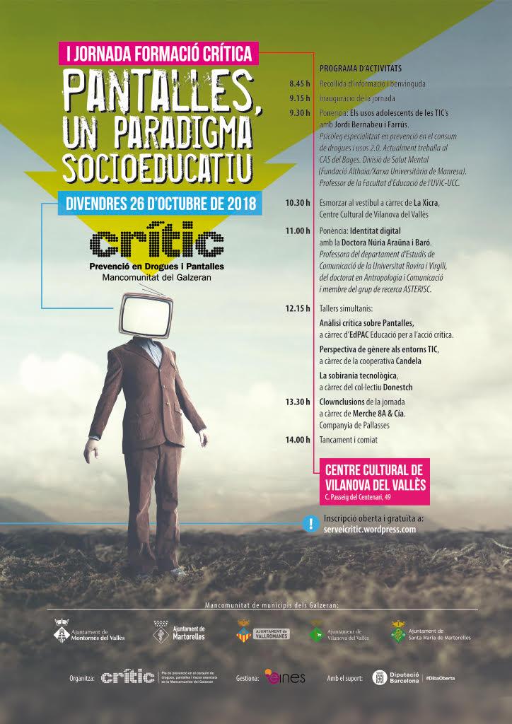 Ia Jornada de formació Crítica: Pantalles, un paradigma socioeducatiu