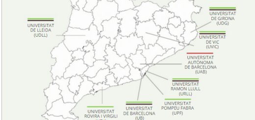 mapa catalunya universitats drogues