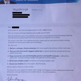 Letter from John Nguyen