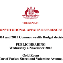 Senate Inquiry into the arts header