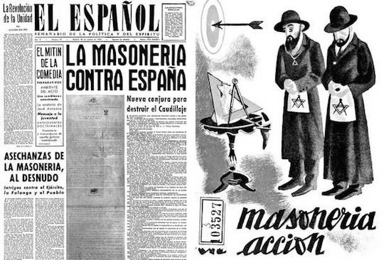Propaganda en la España franquista sobre el contubernio judeo-masónico-comunista.