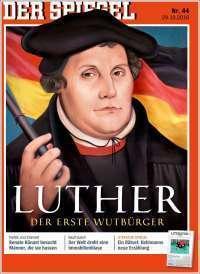 Portada de Spiegel dedicada a Lutero