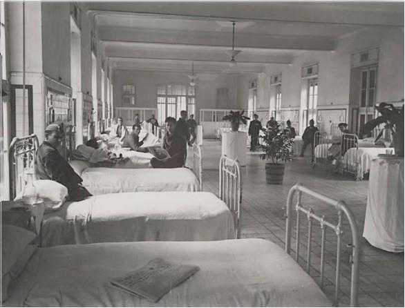 Hospital atendido por el Socorro Rojo
