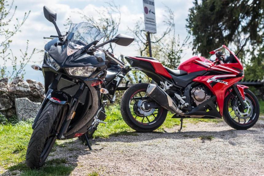 Yamaha R3 & Honda CBR2500R, Sumber foto: Motorrad-bilder