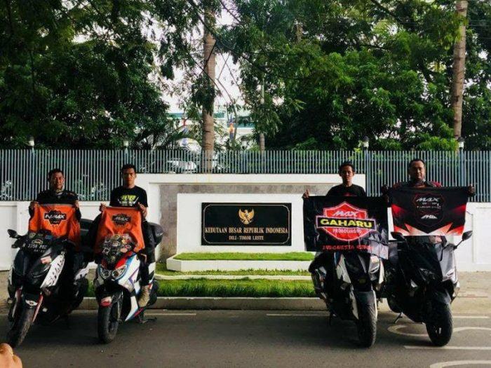 Baru Turun Dari Dealer, Yamaha TMAX DX Dipakai Inreyen Ke Timor Leste!
