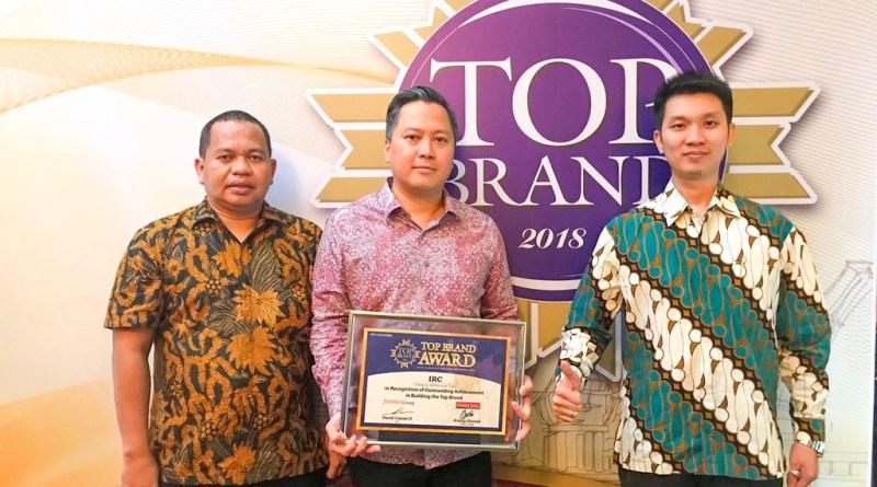 IRC Raih Top Brand Award 2018