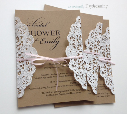 Elegant Country Bridal Shower Invitations Tutorial Perpetually