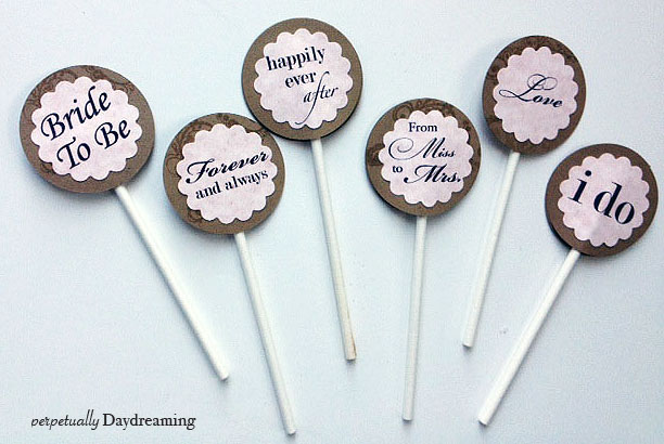 Country Bridal Shower Cupcake Topper {Free} Printable ...