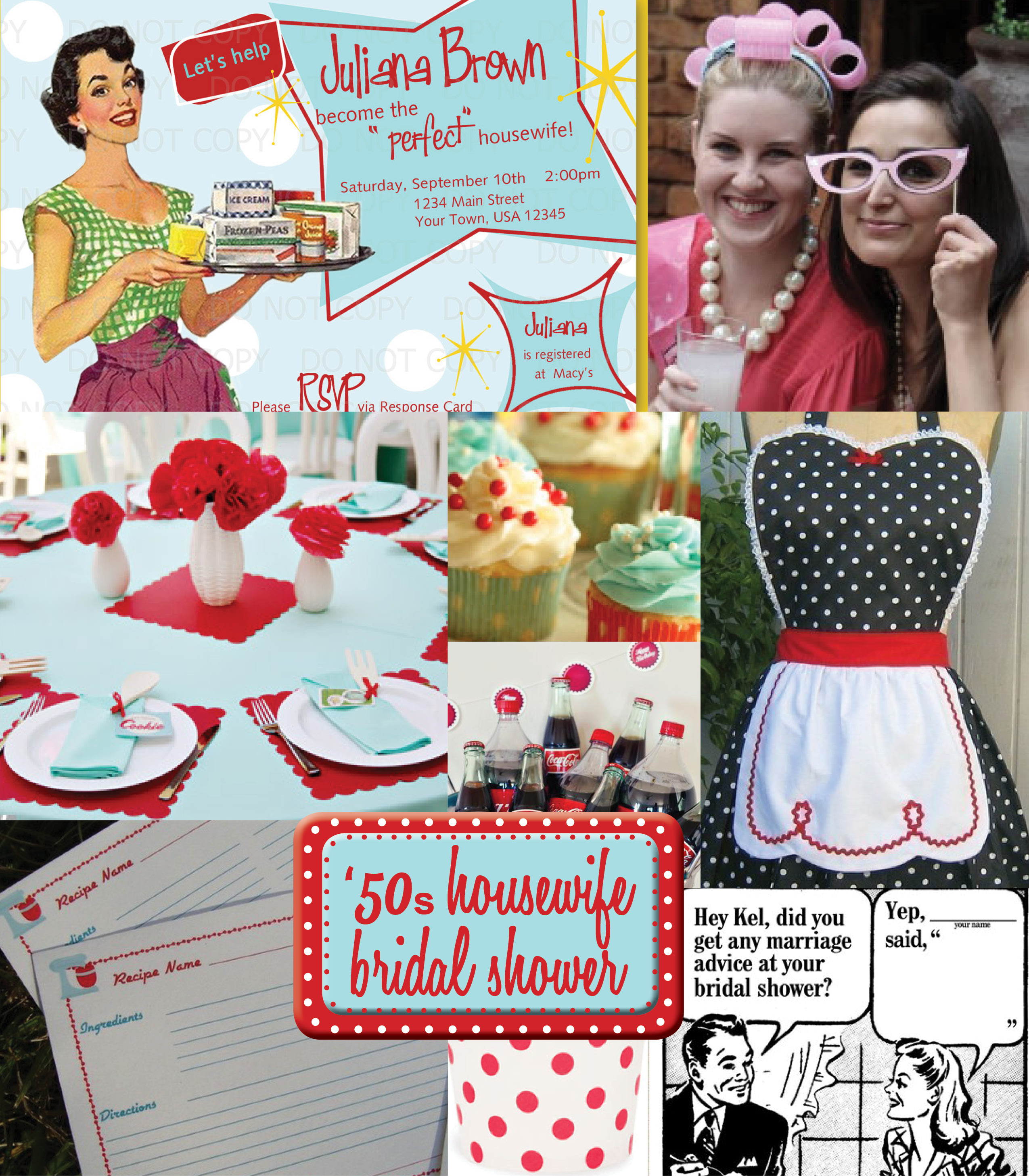 Iw 50s Housewife Bridal Shower Ideas Perpetually Daydreaming