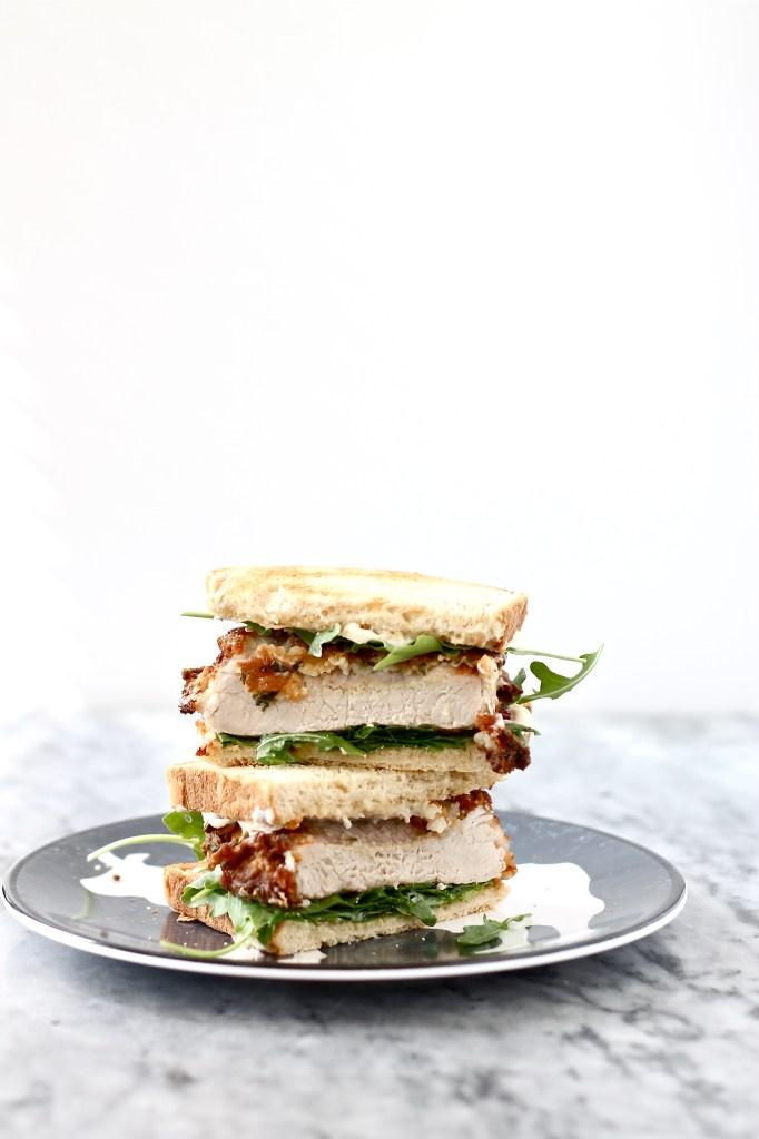 Buttermilk Sage Fried Pork Chop Sandwiches