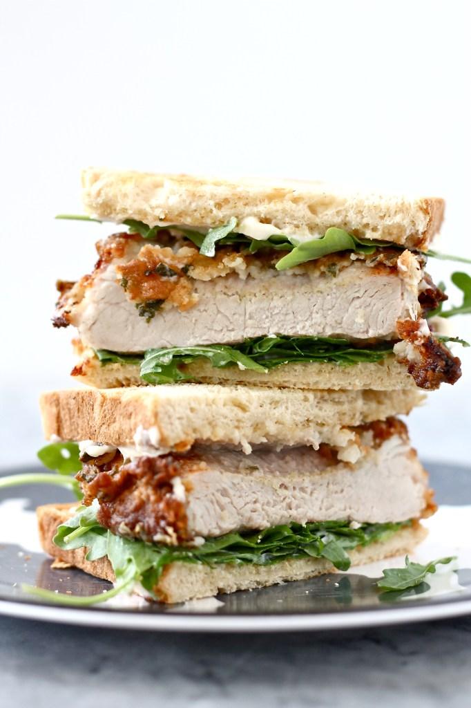 how to make pork chop sandwiches