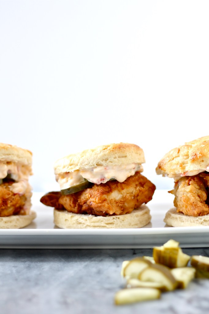 Fried Chicken and Pimento Cheese Biscuits