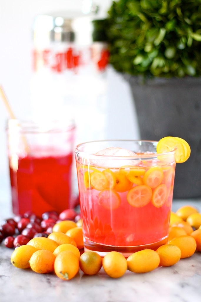 Kumquat Cranberry Margaritas