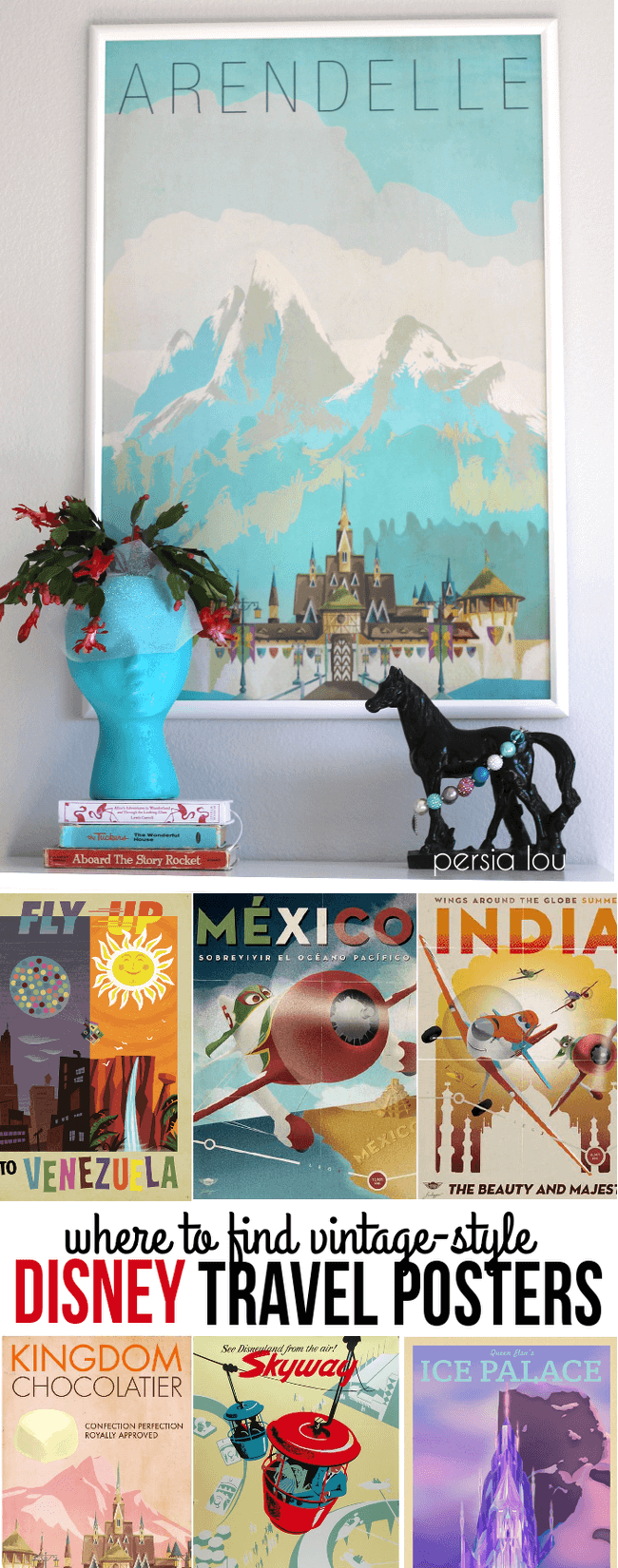 where to find vintage style disney travel posters. Black Bedroom Furniture Sets. Home Design Ideas