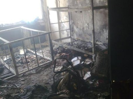 Tehran university dorm set on fire by regime forces