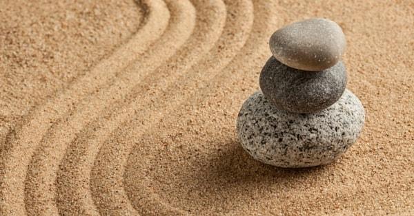 Piedras jardín