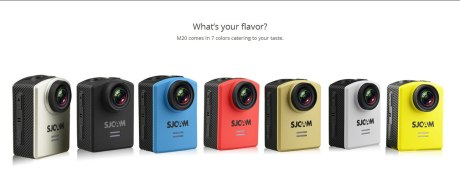 colors SJCAM M20 ActionCam Pertamax7.com